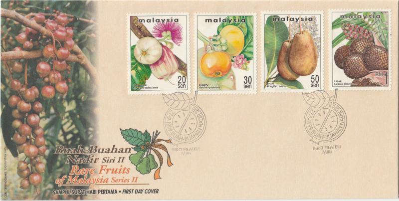 Malaysia 1999 Rare Fruits of Malaysia (Series II) FDC SG#719-722