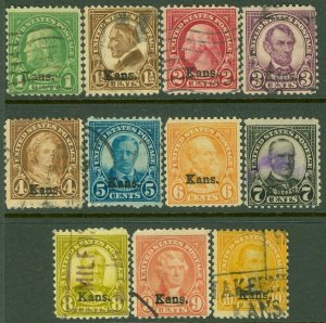 EDW1949SELL : USA 1929 Scott #658-68 Used. Small faults. Catalog $174.00.