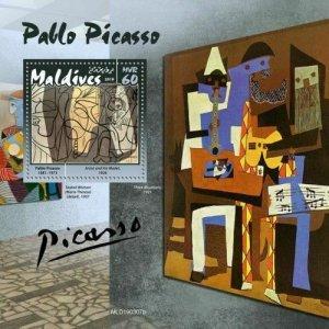 Z08 MLD190307b MALDIVES 2019 Pablo Picasso MNH ** Postfrisch