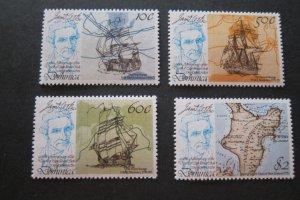 Dominica Sc 625-628 Captain Cook set MNH