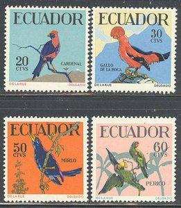 Ecuador 1958 Native Birds set Sc# 645-48 NH