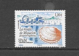 ST PIERRE and MIQUELON #833  MARINE LIFE  MNH