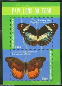 TOGO  2014 BUTTERFLIES OF TOGO   SOUVENIR SHEET MINT NH