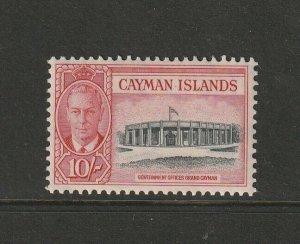 Cayman islands 1950 GV1 Defs 10/- MM SG 147