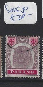 MALAYA  PAHANG   (PP2507B)  TIGER  4C  SG 15   VFU