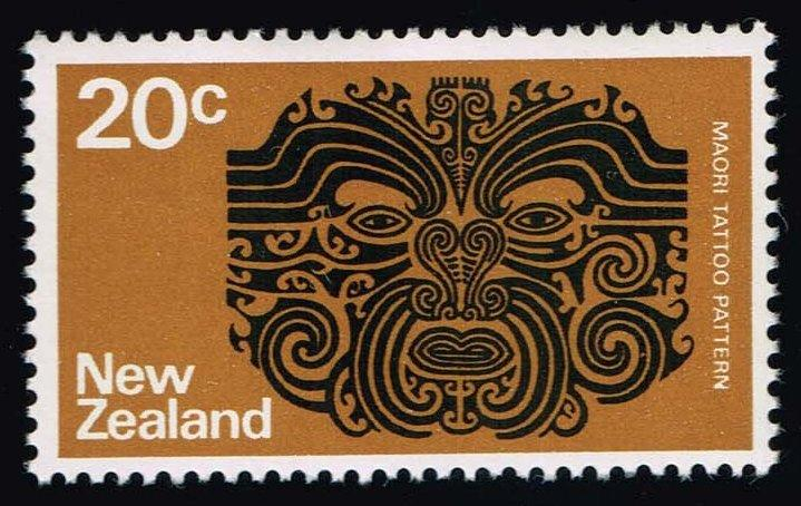 New Zealand #452 Maori Tattoo Pattern; MNH (0.75)