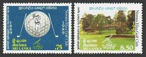 Sri Lanka 942-943,MNH.Michel 893-894. Nuwara Eliya Golf Club,centenary,1989.