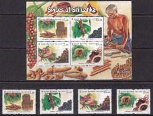 Sri Lanka, Spices of Sri Lanka MNH / 2019