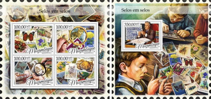Mozambique Stamps on Stamps Philately MNH stamp set
