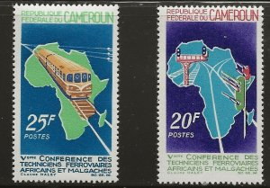 Cameroon (1967)  - Scott # 453 - 454,  MH
