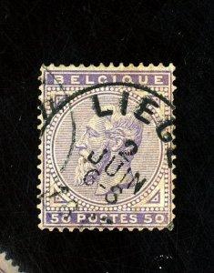 Belgium #48 Used FVF Crease Cat$35