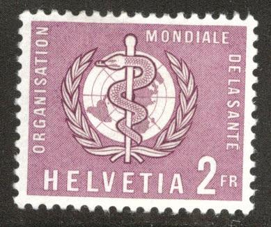 Switzerland Scott 5o34 MNH** World Health Organization, WHO stamp