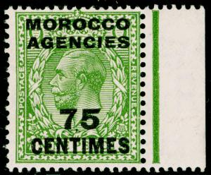 MOROCCO AGENCIES SG208, 75c on 9d olive-green, M MINT. Cat £14.