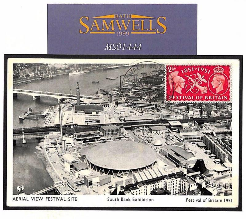 MS1444** DUPLICATED NUMBER?? 1951 GB London Festival Britain Postcard [RESERVED]