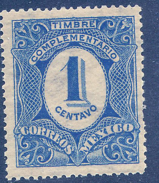 MEXICO J1, 1¢ Postage Due. MINT, NH. F-VF.