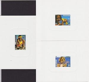 FRENCH POLYNESIA 1986 Children set of 3 deluxe proofs.......................4039