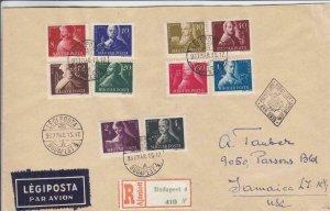 1947, Budapest, Hungary to Jamaica, NY, FDC, See Remark (24377)