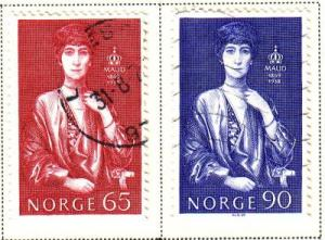 Norway Sc 549-0  1969 Queen Maud stamps used