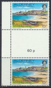 Alderney  SG A9  SC# 9  Scenes Corblet Bay MNH Gutter Pair see scan