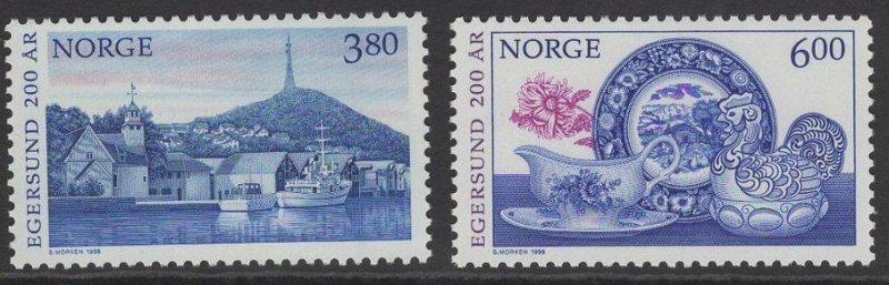 NORWAY SG1314/5 1998 BICENTENARY OF EGERSUND MNH