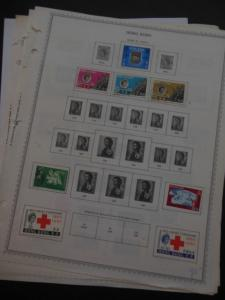 HONG KONG : All Mint OG Hinged collection on album pages between years 1961-1976
