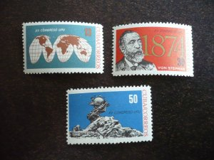 Stamps - Cuba - Scott# 835-837 - Mint Hinged Set of 3 Stamps
