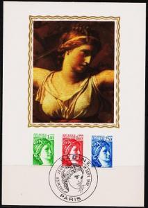 France. 1981 Maxim Card. Fine Used