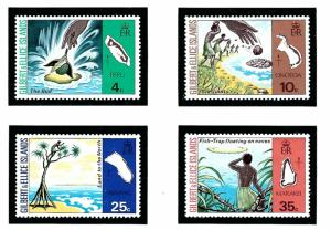 Gilbert and Ellice Is 245-48 MNH 1975 Legends of Island Names