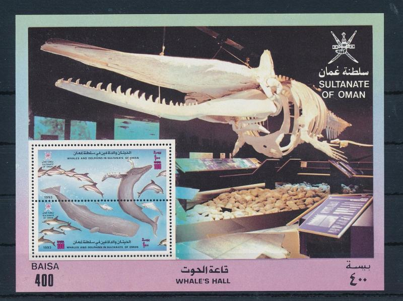 [32770] Oman 1993 Marine Life Whales Dolphins MNH  Sheet