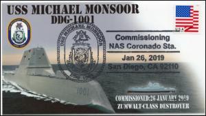 19-031, 2019, USS Michael Monsoor, Pictorial  Postmark, Event, DDG-1001