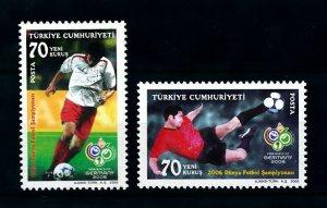 [101618] Turkey 2006 World cup football soccer Germany  MNH