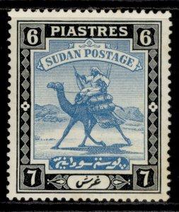 SUDAN GVI SG45b, 6p greenish blue & black, M MINT. Cat £20.