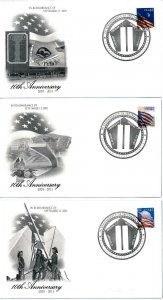 [101647] United States 2011 In remembrance of 9/11 Special covers MNH