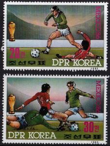 1985 Korea, North 2709-10 1986 World championship on football of Mexico