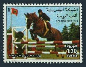 Morocco 525,MNH.Michel 992. Equestrian Sport,1981.