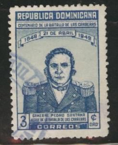 Dominican Republic Scott 432 used 1949 stamp