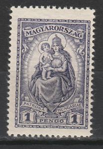 HUNGARY 1926 MADONNA AND CHILD 1P