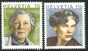 SWITZERLAND 1996 EUROPA Set Famous Women Sc 970-971 MNH