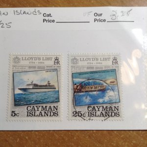 Cayman Islands  # 522/25  MH/Used