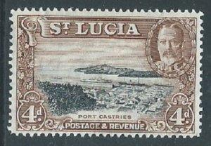 St Lucia, Sc #101, 4d MH