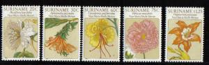 Surinam 1981 MNH Flower drawings by Maria Sibylle Merian