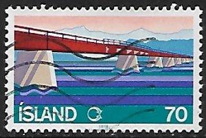 Iceland # 510 - Skeiora Bridge - used....{GBl)