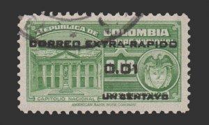 COLOMBIA 1953 SCOTT # C233. USED