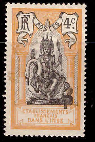 FRENCH INDIA  Scott 29 MH* Brahma stamp