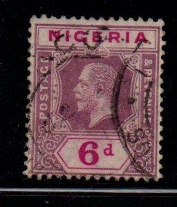 Nigeria Sc 7 1914 6d dull violet & red violet G V stamp used