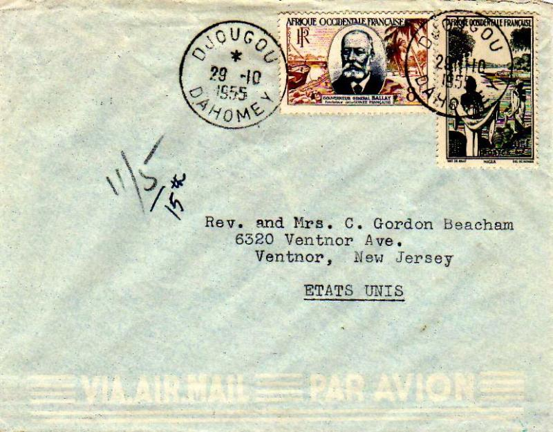French West Africa 1955 Postal History