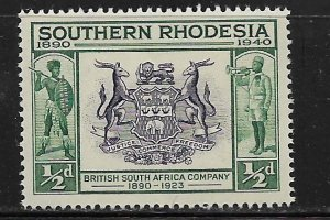 SOUTHERN RHODESIA 56  MNH   SEAL BRITISH AFRICA  ISSUE