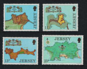 Jersey Fortresses Drawings by Thomas Phillips 4v SG#222-225