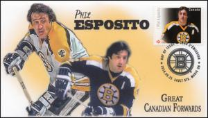 CA16-039, 2016, FDC, Canadian Forwards, Phil Esposito, Day of Issue,