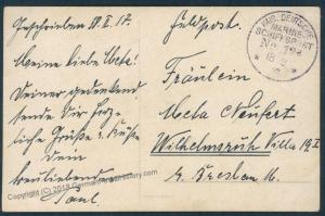 Germany WWI Navy Cruiser SMS Bremse MSP12a Feldpost  Cover 51455